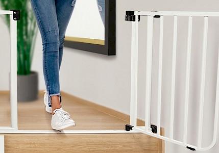 IMPAG® Tür- und Treppenschutzgitter Safe Step 62 - 222 cm