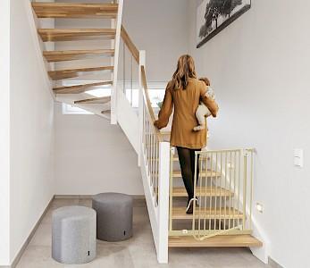 IMPAG® Tür- und Treppenschutzgitter Easy Step 62 - 222 cm