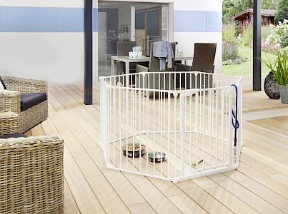 IMPAG® Tierlaufstall Snoopy 8 tlg. 490 cm [Polar-Weiß]