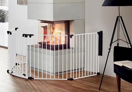 IMPAG® Ofenschutzgitter Rondo 370 cm   6 tlg. [Polar-Weiß]