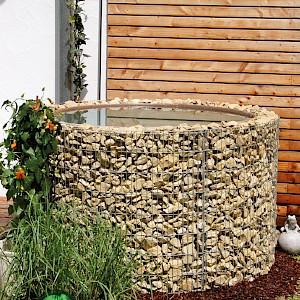 bellissa Wasserfass Ø 130/110 cm H 80cm inkl. Teichfolie