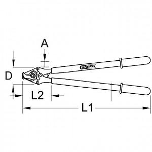 KSTOOLS® - Kabelschere mit Schutzisolierung, 600mm