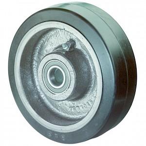 BS ROLLEN - OB-Rad,Rad Ø 400mm, B81, Elastik-Reifen, schwarz,Achs Ø 40mm