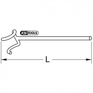 KSTOOLS® - BRONZEplus B-Handradschlüssel Ø 36x60 mm