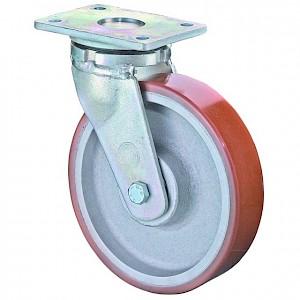 BS ROLLEN - Schwerlast-Lenkrolle, RR100.C10, ohne Feststeller,Rad Ø 300mm Guss-Polyurethan