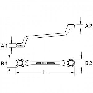 KSTOOLS® - BRONZEplus Doppel-Ringschlüssel gekröpft 1.13/16x2
