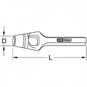 KSTOOLS® - Henkel-Locheisen, 65mm