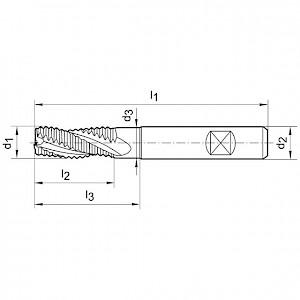 GÜHRING® - Schruppfräser DIN 6527 VHM FIRE18,0mm Z4 NF