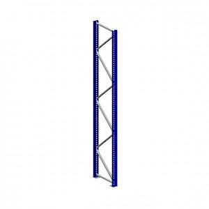META® - Ständer Pal.reg. 120/2 HxT 3800x800 Stahl RAL 5010 enzianblau unmontiert