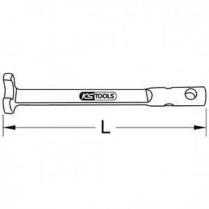 KSTOOLS® - BRONZEplus Klauenschlüssel ohne Drehstift 46 mm