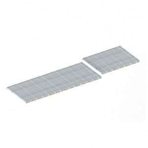 META® - Gitterr.bo. Pal.reg.3300x800x8060x40 1000kg feuerv. aufgesetzt