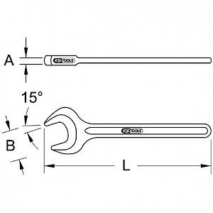 KSTOOLS® - BRONZEplus Einmaulschlüssel 71 mm