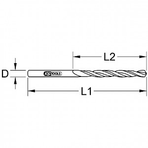 KSTOOLS® - BERYLLIUMplus Spiralbohrer Ø 17 mm