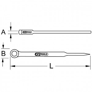 KSTOOLS® - BRONZEplus Montageringschlüssel mit Dorn, gekröpft 1.5/8