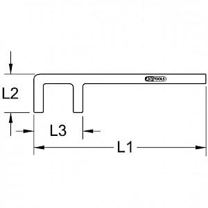 KSTOOLS® - BRONZEplus Ventilhaken 28x80 mm