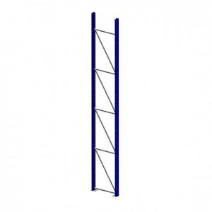 META® - Ständer Pal.reg. 100/2 HxT 4900x800 Stahl RAL 5010 enzianblau unmontiert