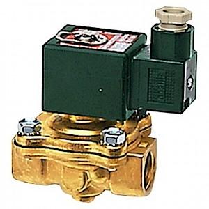 RIEGLER® - 2/2-Wege-Magnetventil MS, NO, zwangsgest., 230 V, Rp 1 1/2, NBR