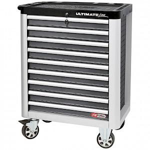 KSTOOLS® - ULTIMATEline Werkstattwagen,mit 9 Schubladen,grau/silber