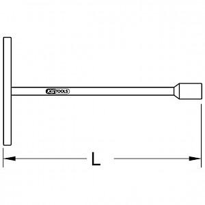 KSTOOLS® - BRONZEplus 6-kant-Steckschlüssel fester Quergriff 77 mm