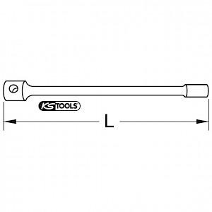 KSTOOLS® - BRONZEplus 6-kant-Steckschlüssel 75 mm