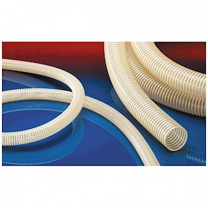 NORRES - NORPLAST® PVC-CU 384, PVC, farblos, Innen Ø 100mm, Länge 30m