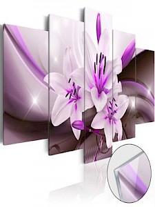 artgeist Acrylglasbild Violet Desert Lily [Glass] weiß-kombi Gr. 100 x 50