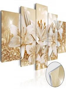 artgeist Acrylglasbild Golden Bouquet [Glass] mehrfarbig Gr. 100 x 50