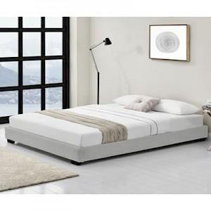 en.casa Polsterbett Doppelbett Kunstlederbett in verschiedenen Größen 90/140/180x200cm und Farben weiß Gr. 90 x 200