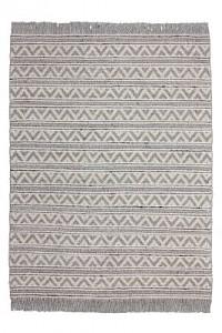 Kayoom Fransenteppich - Natura 410 Natural / Silber silber Gr. 80 x 150