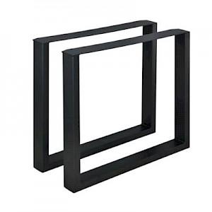 en.casa 2x Tischgestell Tischkufen DIY Tischbeine Esstisch Couchtisch Beistelltisch in Verschiedenen Farben und Größen schwarz  Erwachsene