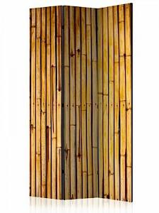 artgeist Paravent Bamboo Garden [Room Dividers] braun Gr. 135 x 172