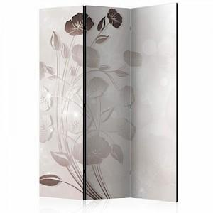 artgeist Paravent Gentleness of Flowers [Room Dividers] braun/beige Gr. 135 x 172