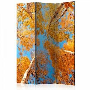 artgeist Paravent Autumnal treetops [Room Dividers] mehrfarbig Gr. 135 x 172