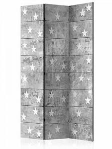 artgeist Paravent Stars on Concrete [Room Dividers] grau/weiß Gr. 135 x 172