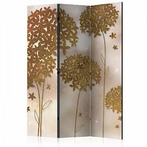 artgeist Paravent Golden Garden [Room Dividers] mehrfarbig Gr. 135 x 172