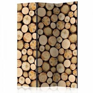 artgeist Paravent In sawmill [Room Dividers] braun/beige Gr. 135 x 172