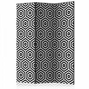 artgeist Paravent Black and White Hypnosis [Room Dividers] schwarz/weiß Gr. 135 x 172