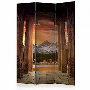 artgeist Paravent Trail of Rocky Temples [Room Dividers] mehrfarbig Gr. 135 x 172
