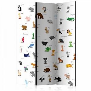 artgeist Paravent animals (for children) [Room Dividers] weiß Gr. 135 x 172