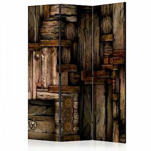 artgeist Paravent Wooden puzzle [Room Dividers] grau-kombi Gr. 135 x 172