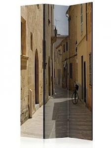 artgeist Paravent Summer in Mallorca [Room Dividers] beige-kombi Gr. 135 x 172