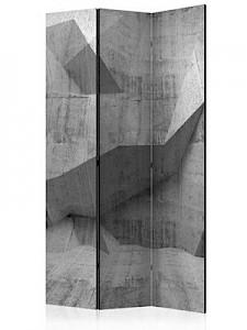 artgeist Paravent Concrete Geometry [Room Dividers] grau Gr. 135 x 172