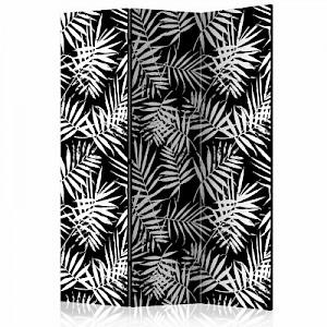 artgeist Paravent Black and White Jungle [Room Dividers] schwarz/weiß Gr. 135 x 172