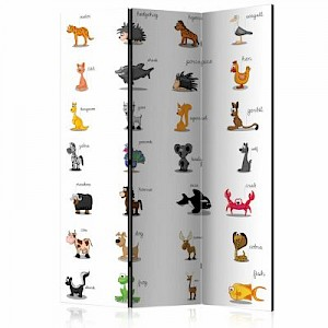 artgeist Paravent Learning by playing (animals) [Room Dividers] weiß Gr. 135 x 172