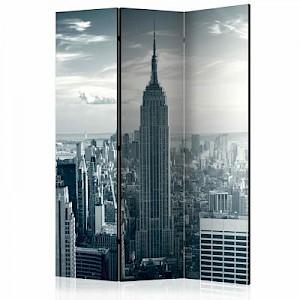 artgeist Paravent Amazing view to New York Manhattan at sunrise [Room Dividers] schwarz/weiß Gr. 135 x 172