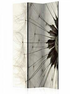 artgeist Paravent White Dandelion [Room Dividers] creme/grau Gr. 135 x 172