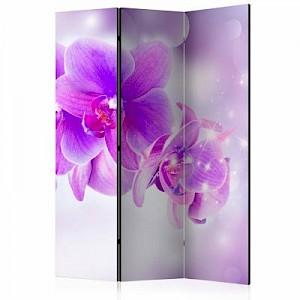 artgeist Paravent Purple Orchids [Room Dividers] mehrfarbig Gr. 135 x 172