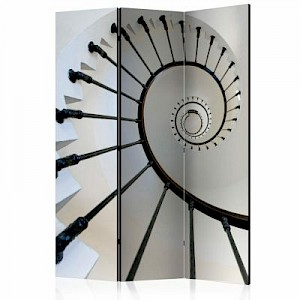 artgeist Paravent stairs (lighthouse) [Room Dividers] grau-kombi Gr. 135 x 172