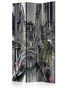 artgeist Paravent Romantic Venice [Room Dividers] beige-kombi Gr. 135 x 172