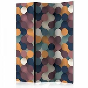 artgeist Paravent Colourful Particles [Room Dividers] mehrfarbig Gr. 135 x 172